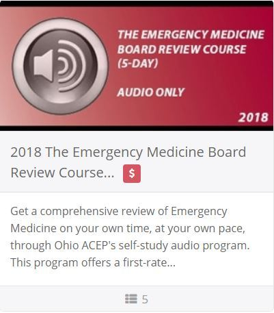 2018 Emergency Medicine Board Review Course (5 Day) - Audio Only