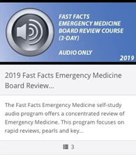 2018 Fast Facts Emergency Medicine Board Review Course (3 Day) - Audio Only