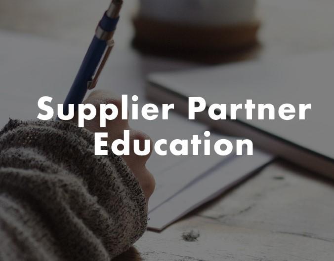 Supplier Partner Education