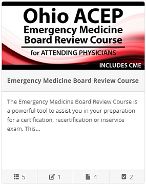The Emergency Medicine Board Review Course - Attending Physicians