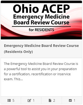 The Emergency Medicine Board Review Course - Residents