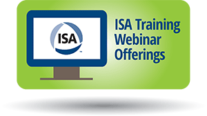 ISA Training Webinar Offerings