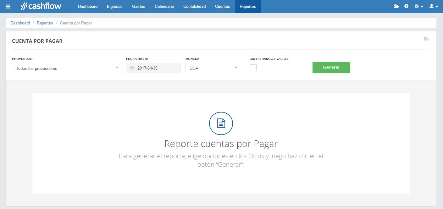 Soporte | Cashflow