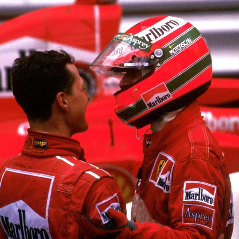 Eddie Irvine Worn Ferrari Racesuit