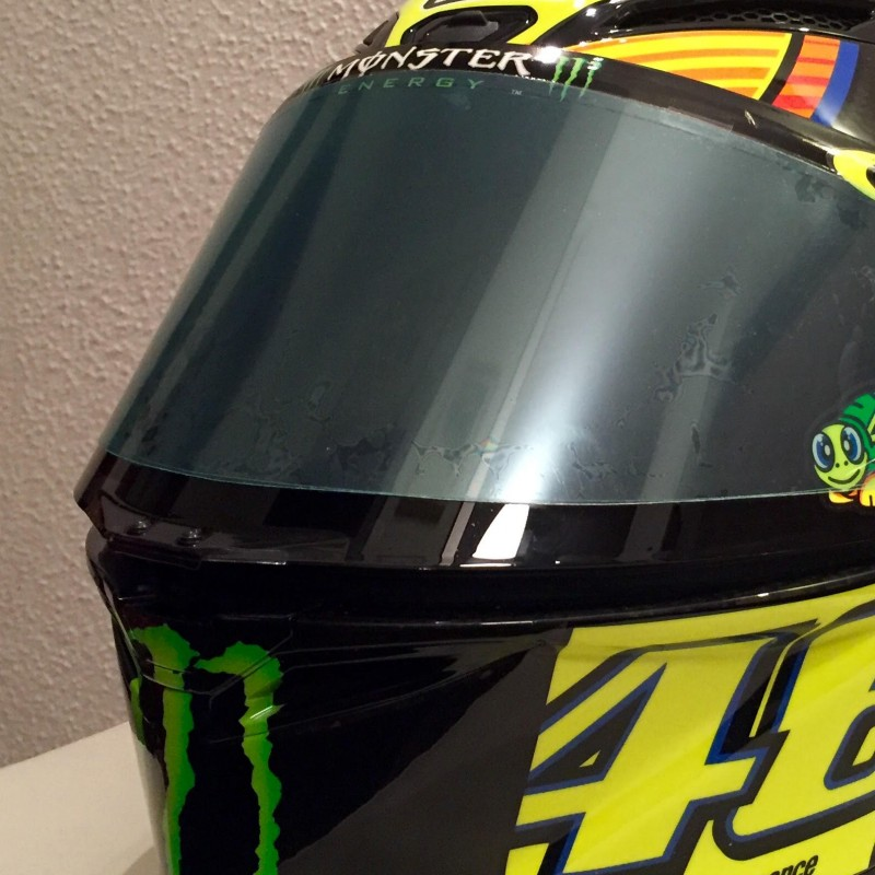 Autographed Helmet by Valentino Rossi