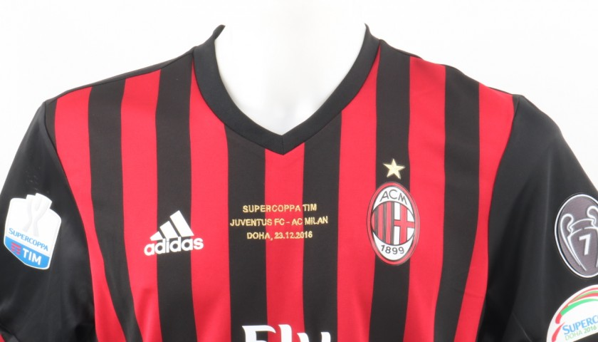 Paletta Match Issued Shirt, TIM Supercup Milan-Juventus  - Special Sewing