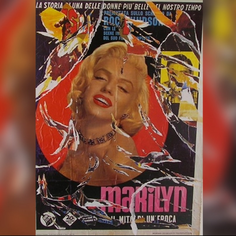 """Marilyn"" by Mimmo Rotella"