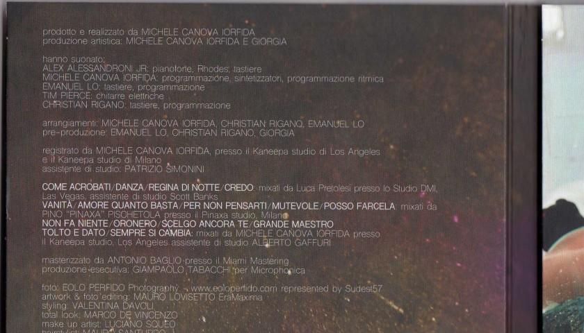 "Giorgia ""Oronero"" album, signed on the cover"