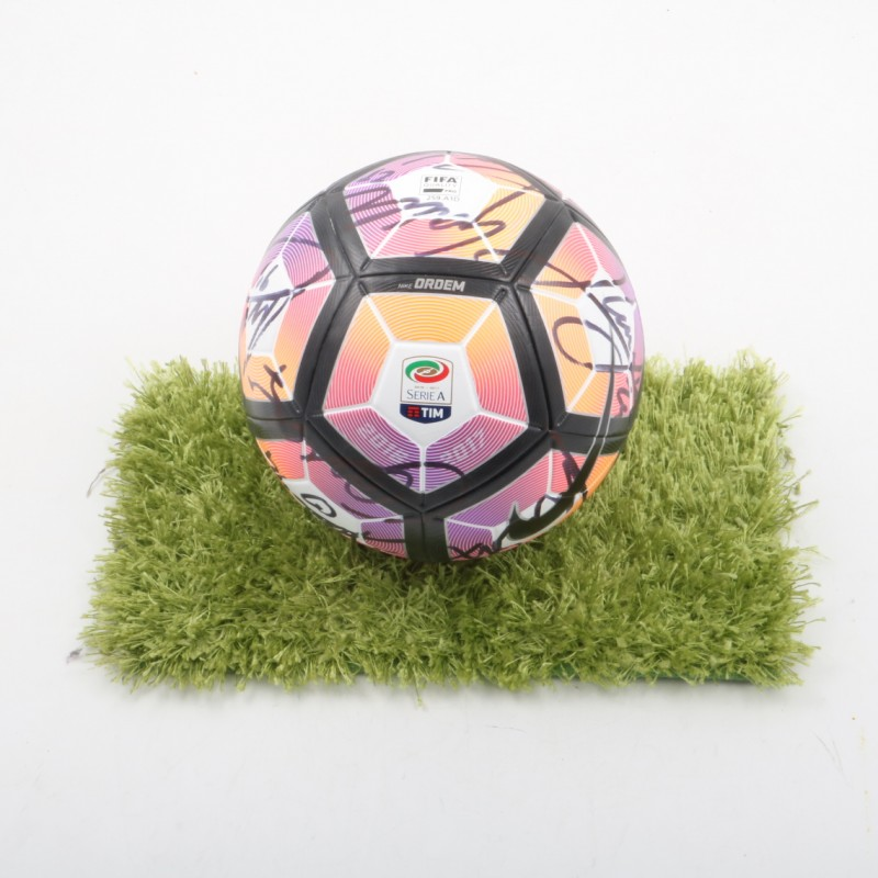 Official Matchball Serie A 2016/17 - Signed by Napoli players