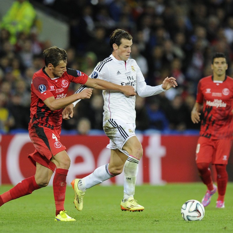 Bale Match-Issued/Worn Shirt, UEFA SuperCup 2014
