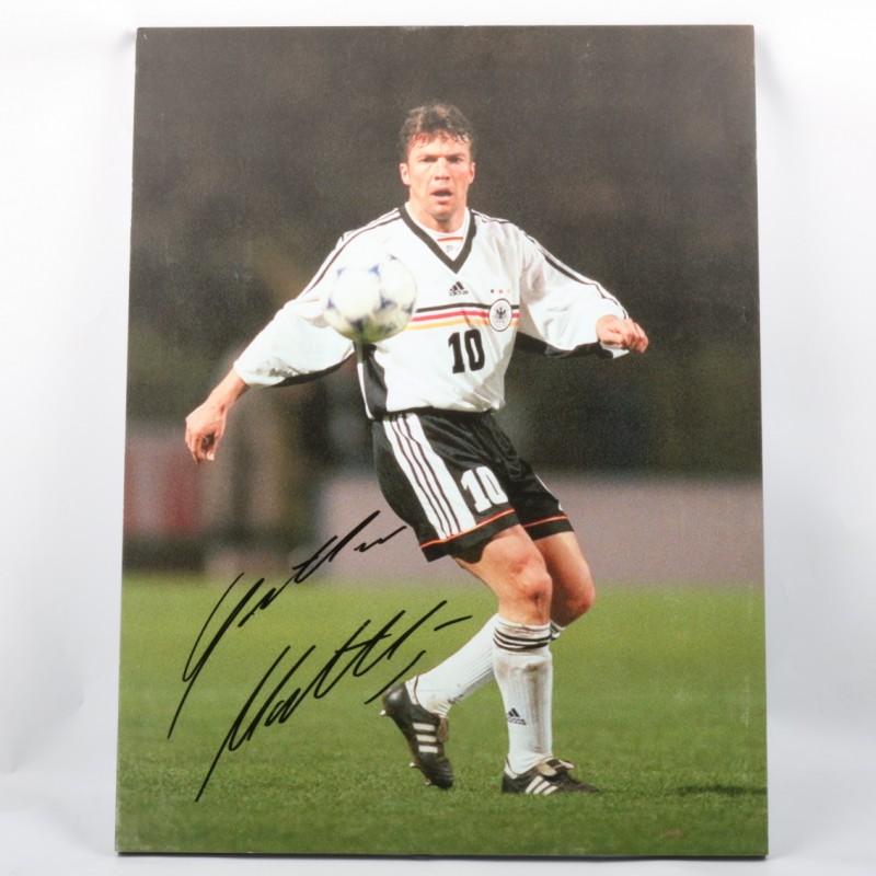 Matthäus Germany Maxi-Photo - Signed