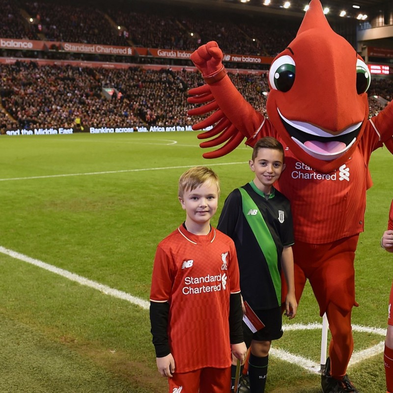 Liverpool Mascot Package with LFC Legend