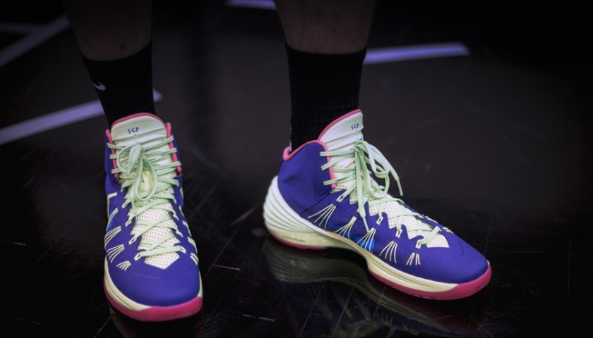 Belinelli's worn shoes from his victorious NBA All-Star-Game Three-Point Contest