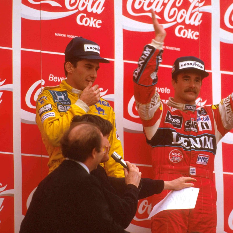 Signed Nigel Mansell 1987 Race-winning Overalls
