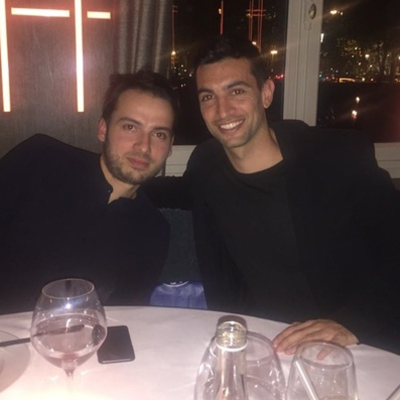 Dinner with Javier Pastore