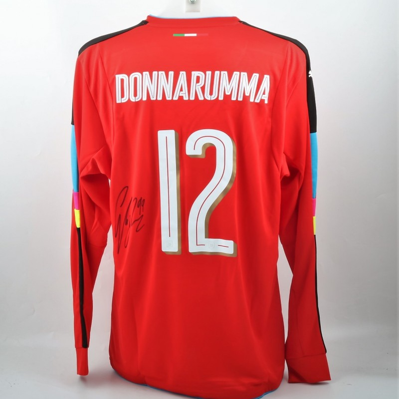 Donnarumma Signed Official 16/17 Italy Shirt
