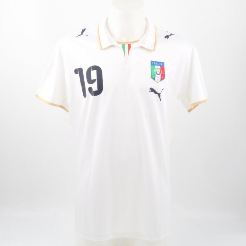 Pellè Italia U-21 Match issued/worn Shirt, Friendly match 2008