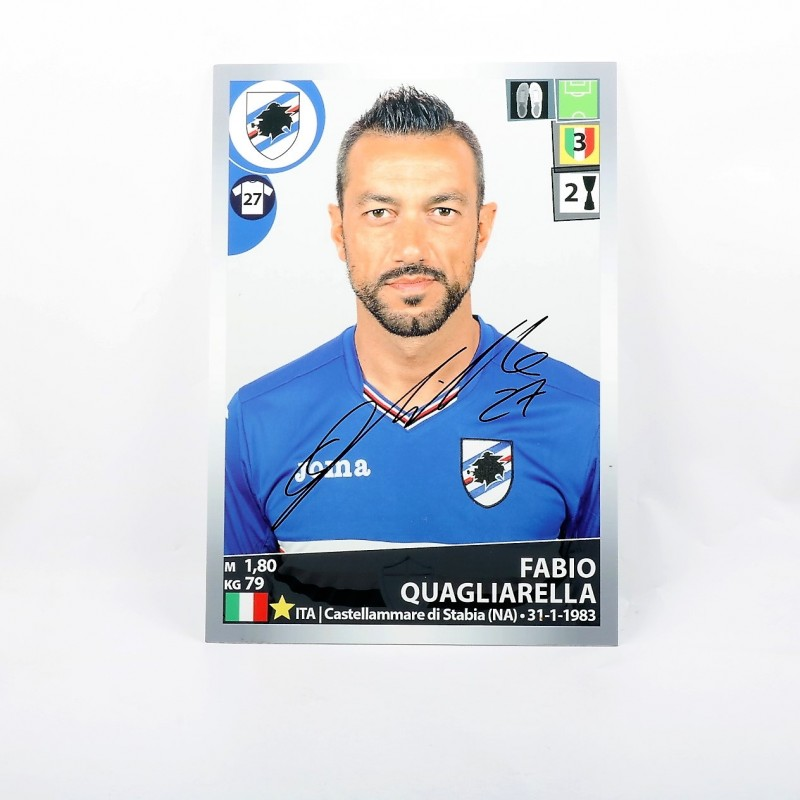 Quagliarella, Limited Edition Box and Signed Maxi Sticker
