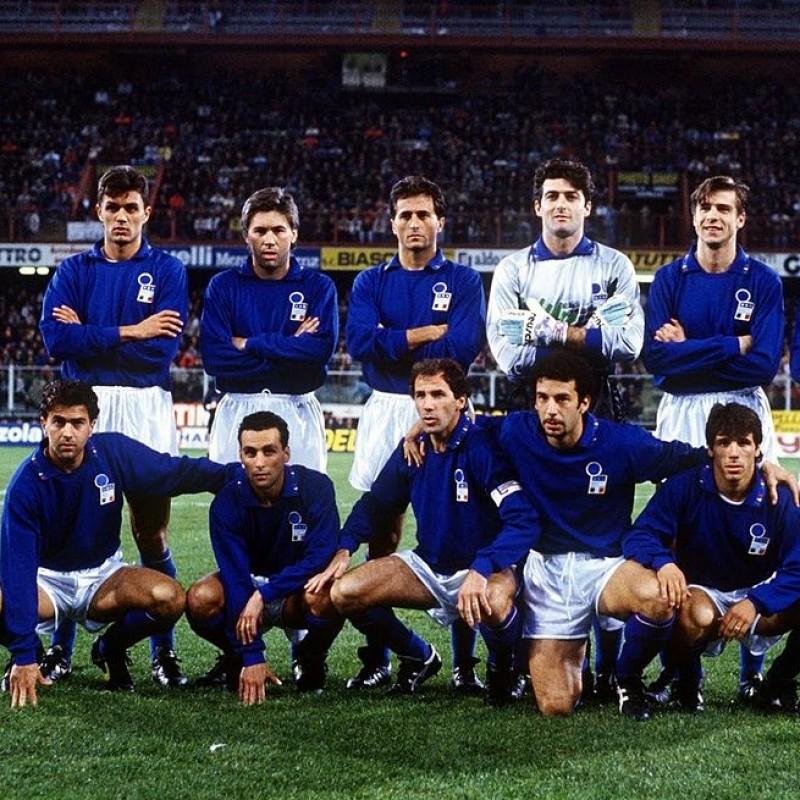 Match-Issued/Worn Bianchi Shirt, Euro '92 Qualifiers