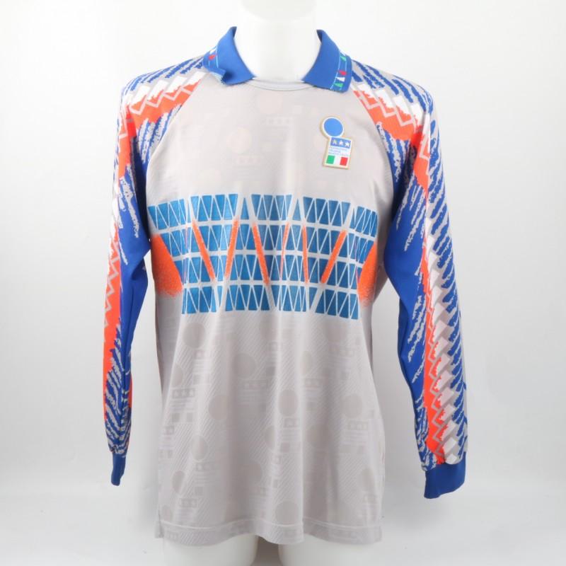 Pagliuca Italia Match issued/worn Shirt, Friendly 1994