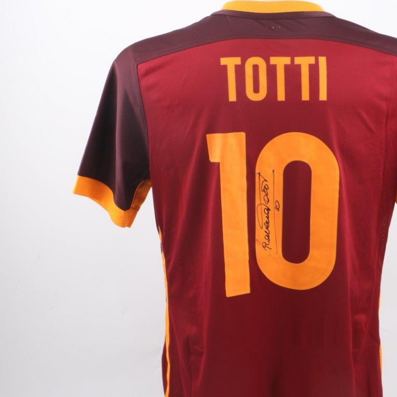 Totti shirt, issued Roma-Genoa 20/12 special sponsor- signed