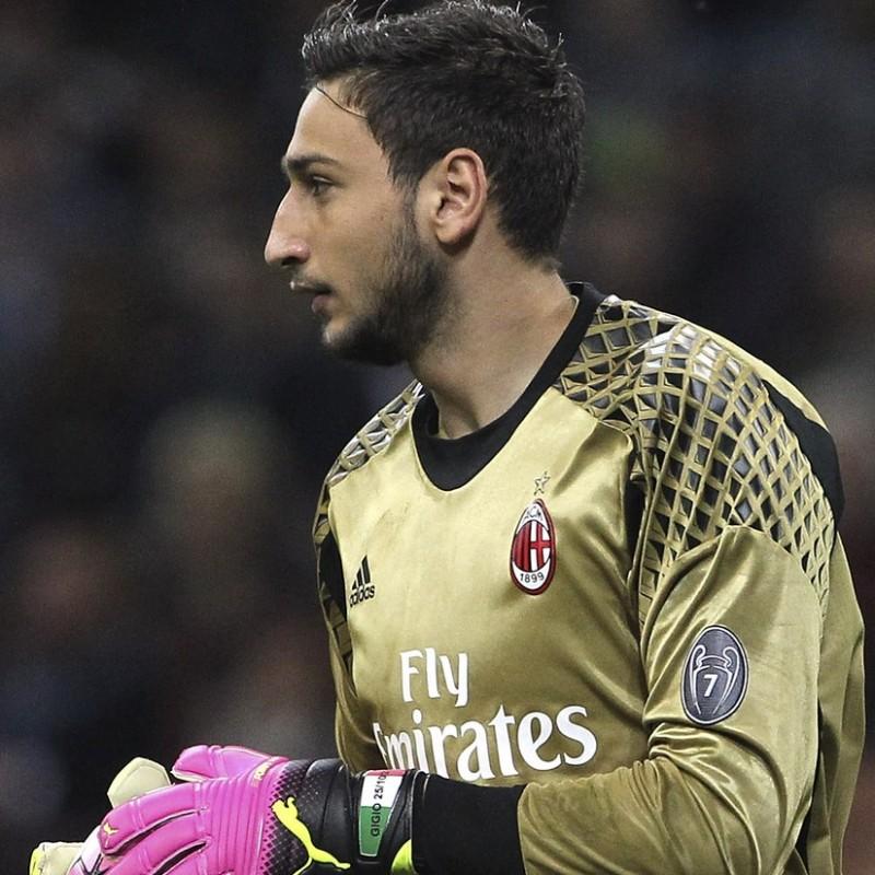 Donnarumma Gloves, Match-Issued Serie A 2016/17