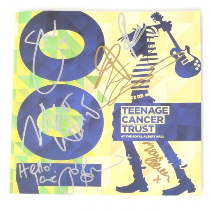 Signed Teenage Cancer Trust Programme