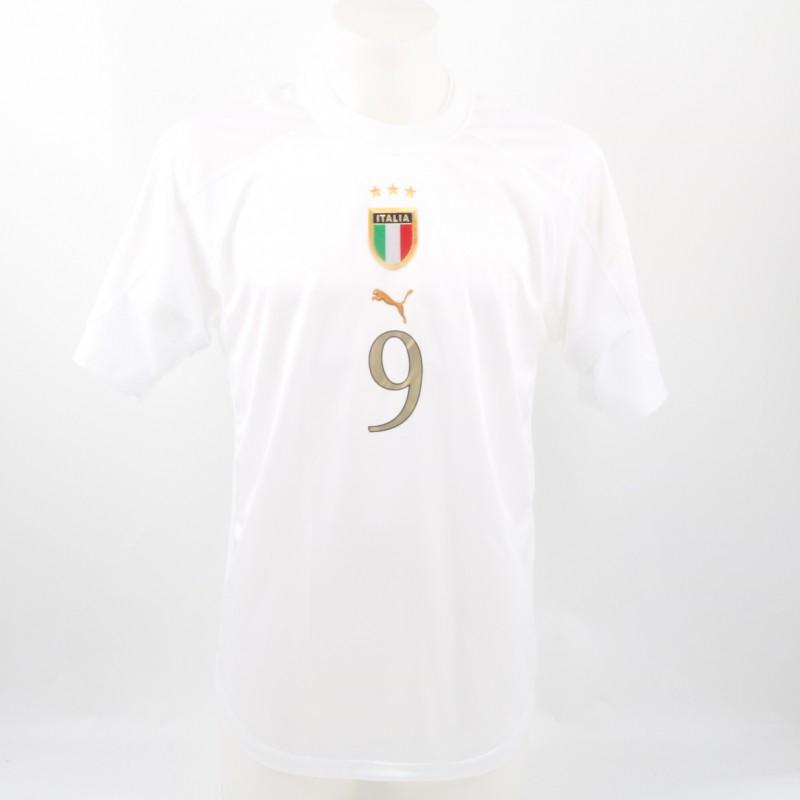 Gilardino Italy U-21 Match issued/worn Shirt, Euro U-21 2004