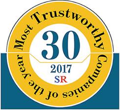 Most Trustworthy Company of the Year award