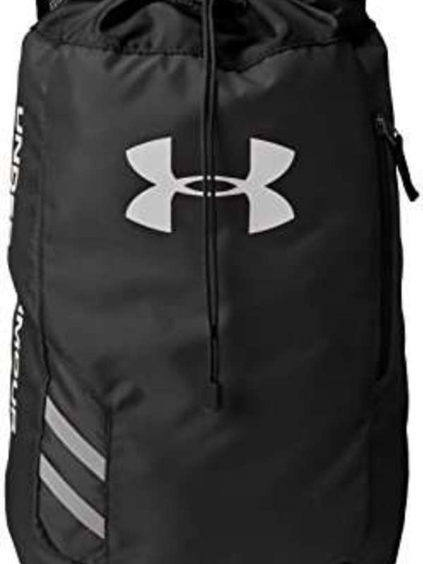 Under Armour Trance Polyester Black Drawstring Bag (1248867-001)