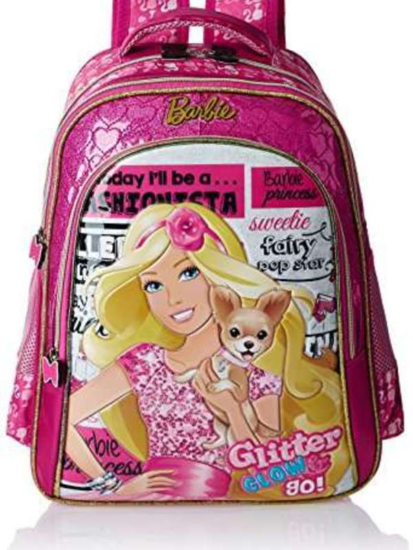 Barbie Polyester 16 Inch Pink Childrens Backpack (Age group :6-8 yrs)