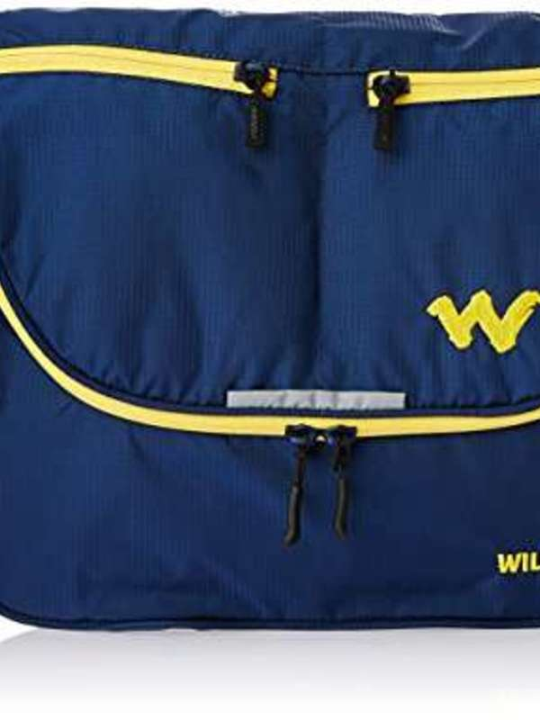 Wildcraft Nylon 12 ltrs Blue Messenger Bag (8903338055518)