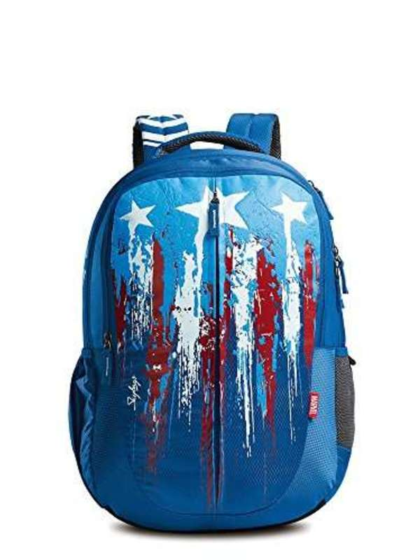 Skybags Marvel Plus Cap-Am 02 Blue Casual Backpack