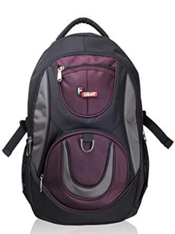F Gear Axe Polyester 29 Liters Black Wine School Bag
