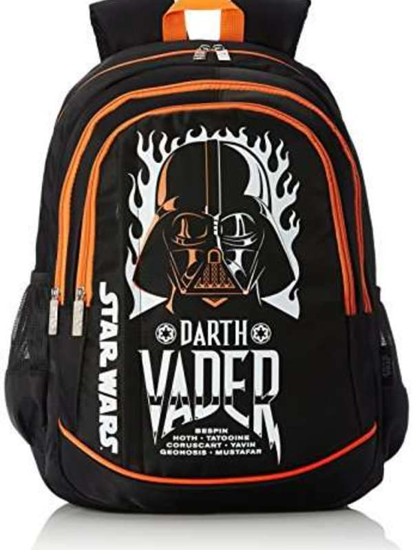 Star Wars Nylon Black and Orange School Bag (Age group :8 yrs +)