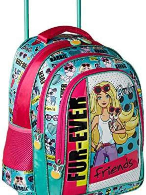 Barbie Polyester 16 inch Turquoise Childrens Backpack (MBE - MAT138)
