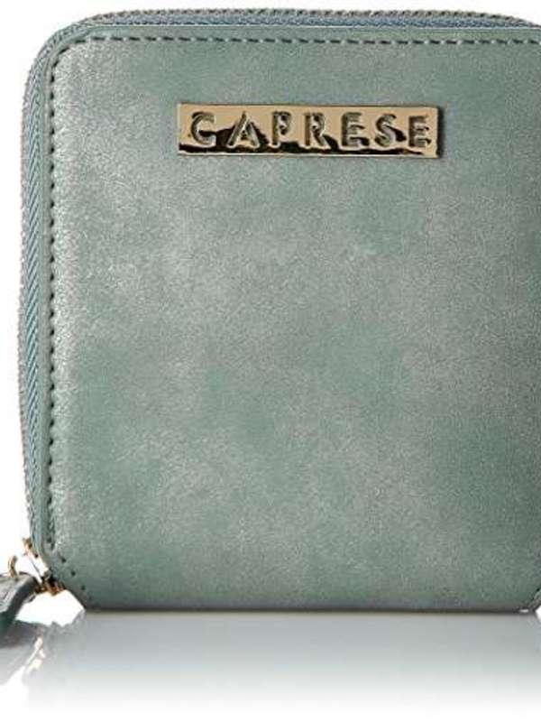 Caprese Perry Womens Wallet (Light Blue Metallic)