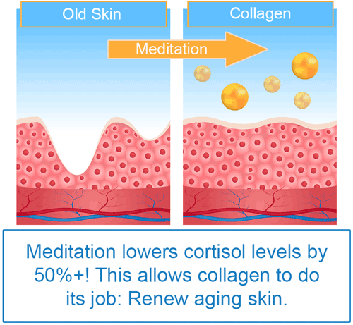 how meditation reverses glycation, look decades younger