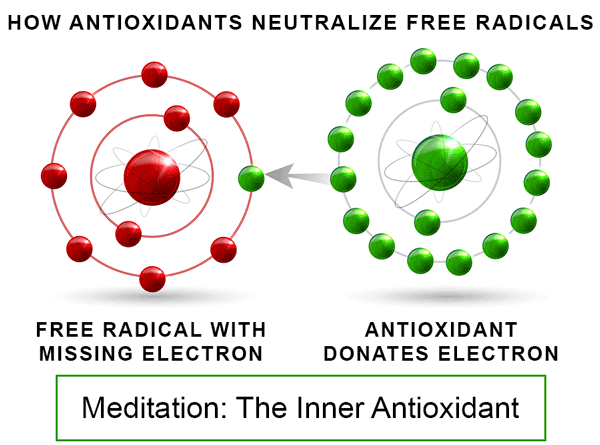 how meditation stops oxidative damage, extends life