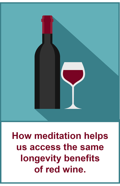 how meditation is better than resveratrol for extending life