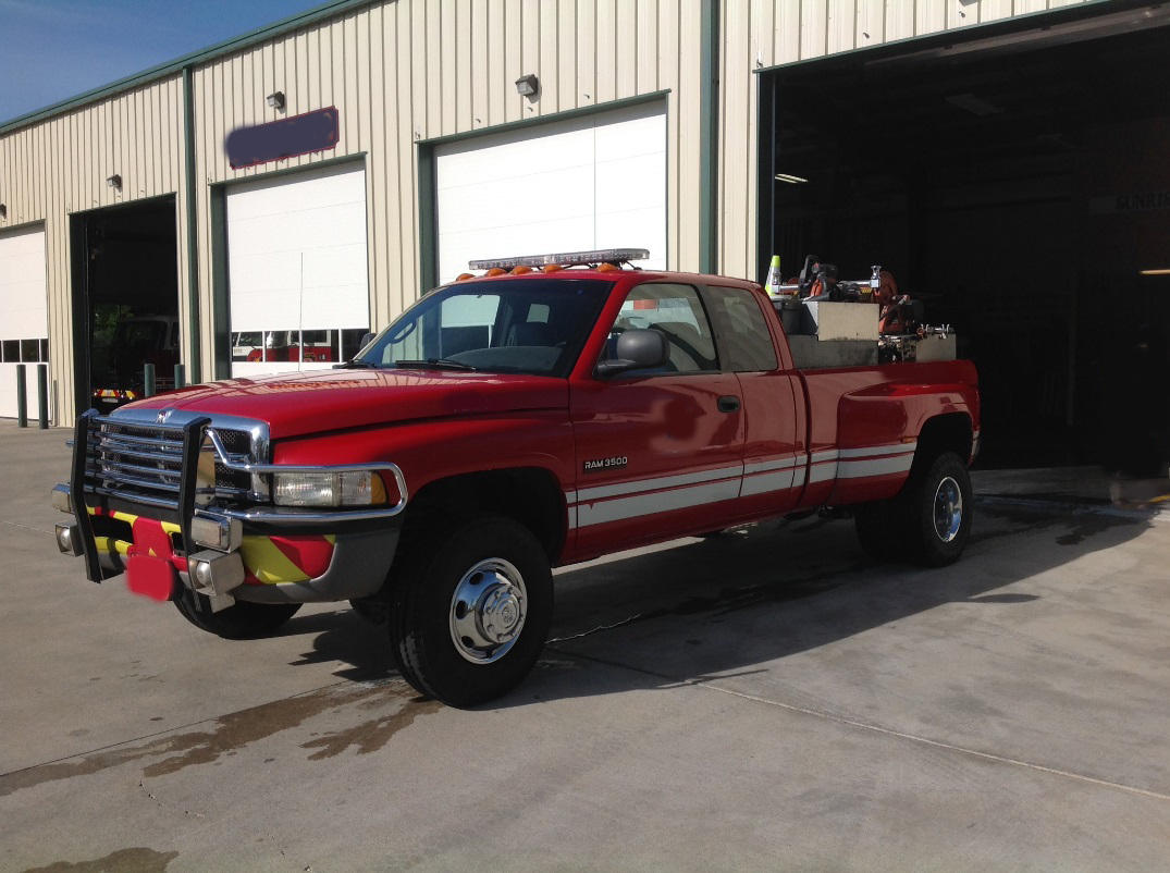 2001 Dodge Ram 1 Ton 3500 Dually 4x4 Brush Truck Used Details Extended Cab Image
