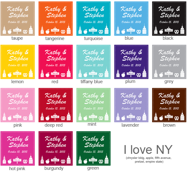 New York Square Personalized Labels Or Hang Tags