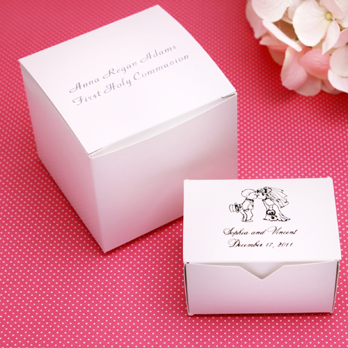 personalized white wedding cake boxes 50 pcs white wedding favor boxes favor boxes favor. Black Bedroom Furniture Sets. Home Design Ideas
