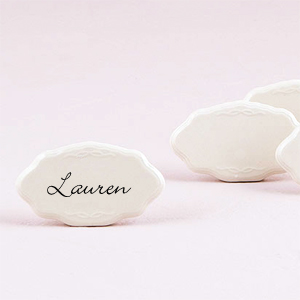 Erasable Ceramic Place Tile 8 Pcs Place Card Holders