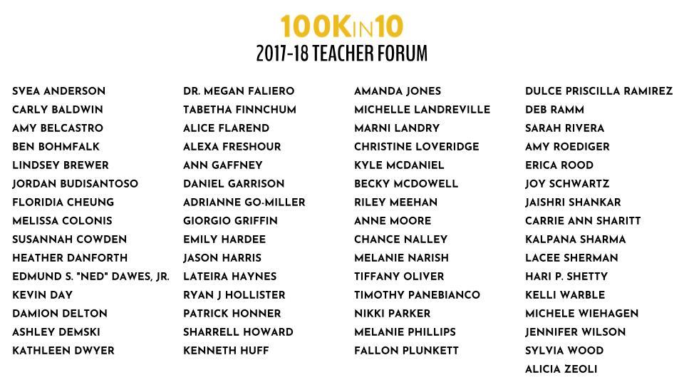 100Kin10 Teacher Forum Members.jpg