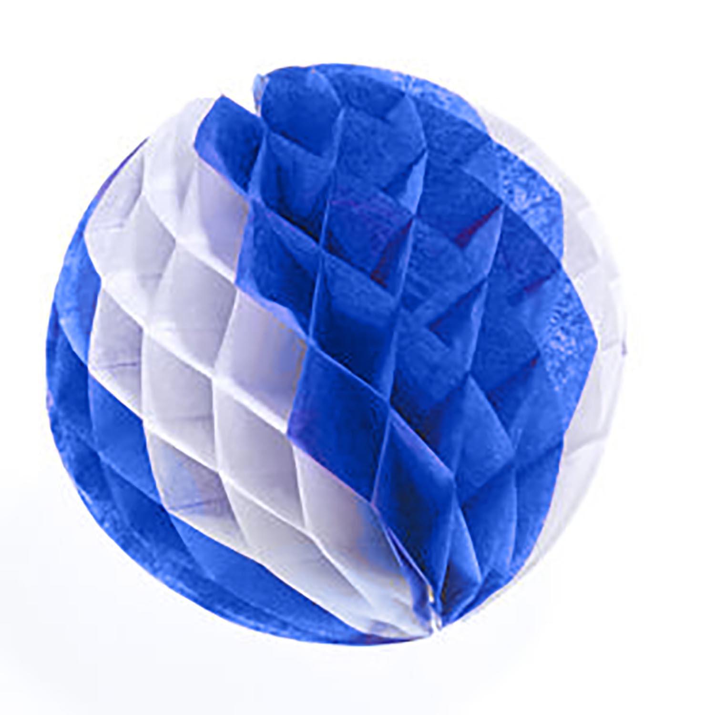 Blue & White Tissue Ball 014-55612BW