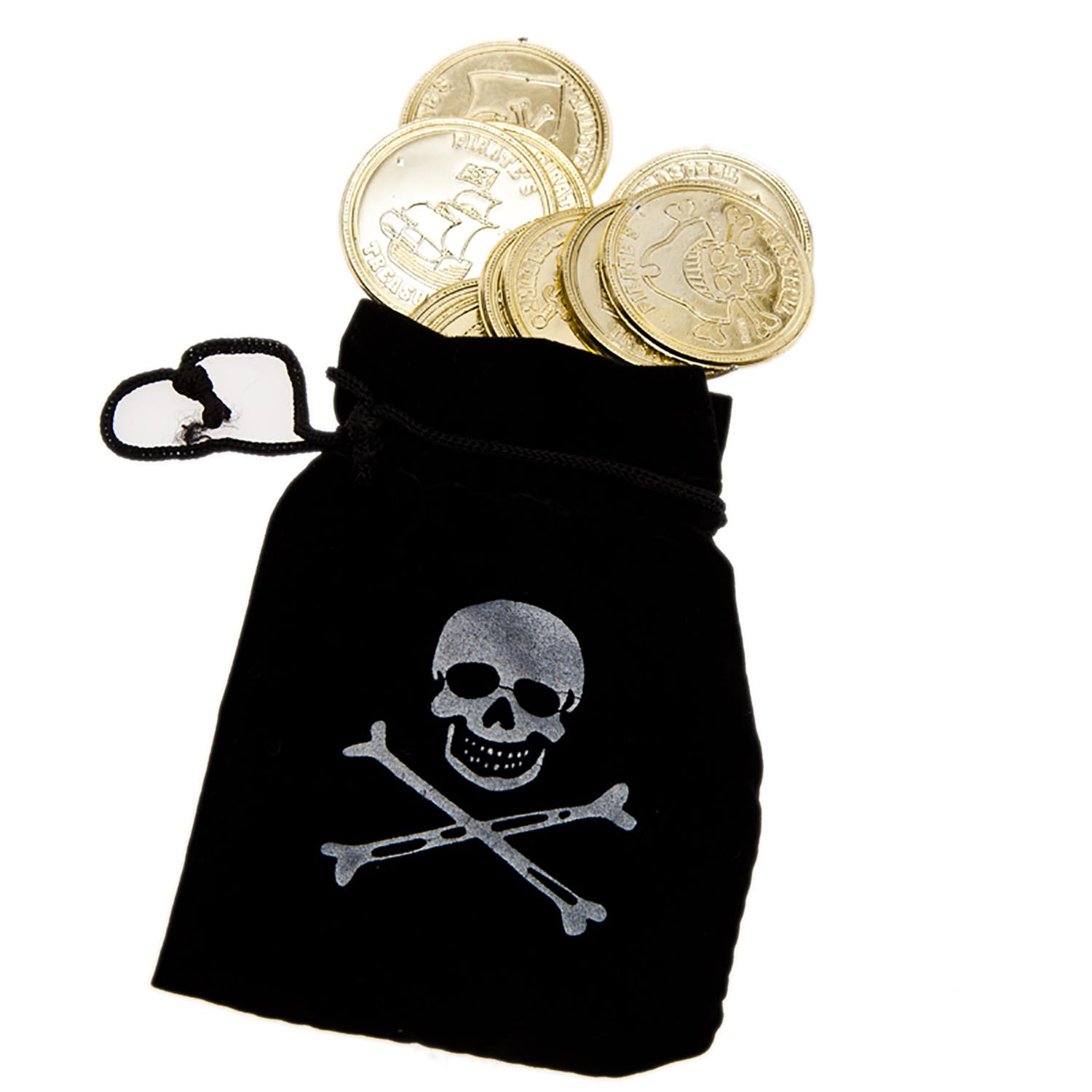 Pirate Drawstring Bag & Coins