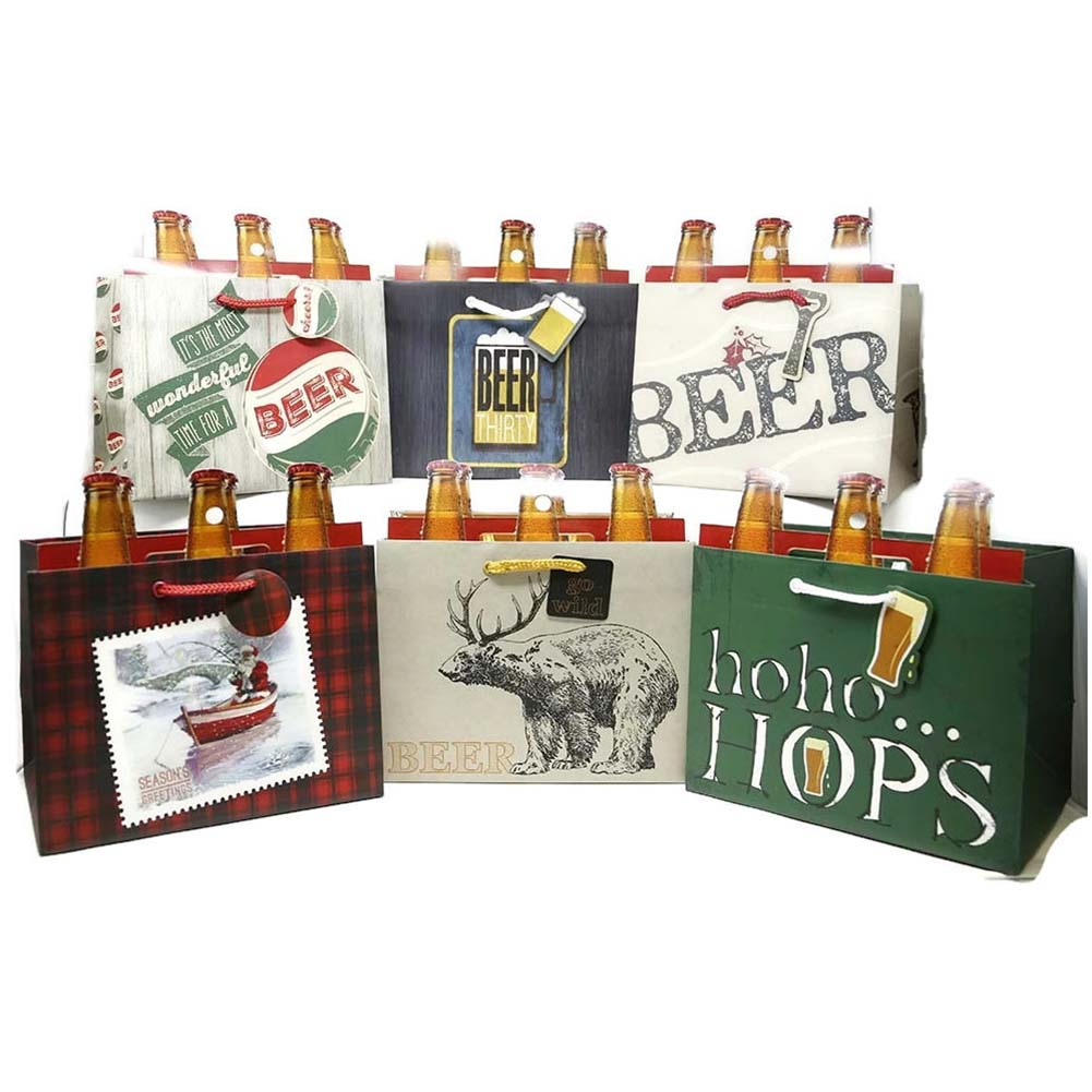 Beer Bottle Gift Bags