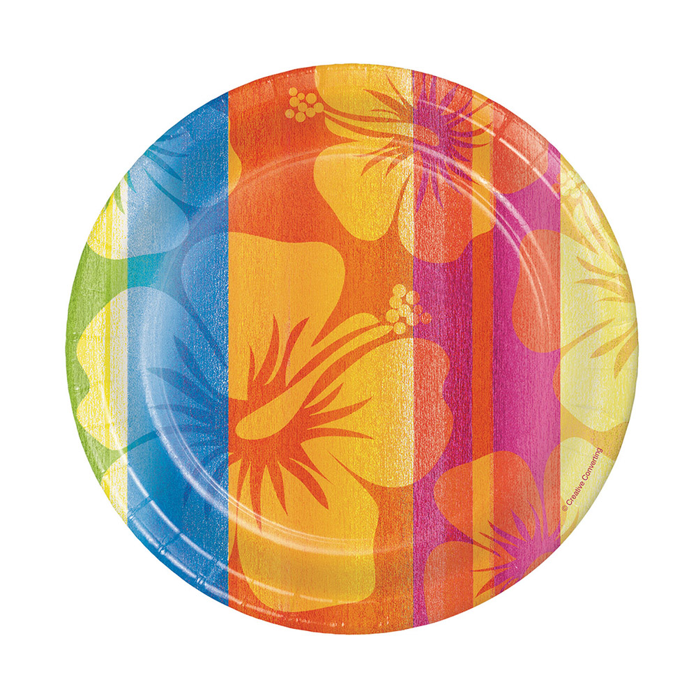 "Sunset Stripes 7"" Plates"