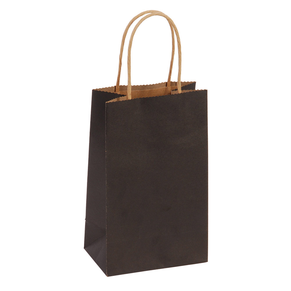 Narrow Medium Black Kraft Gift Bags
